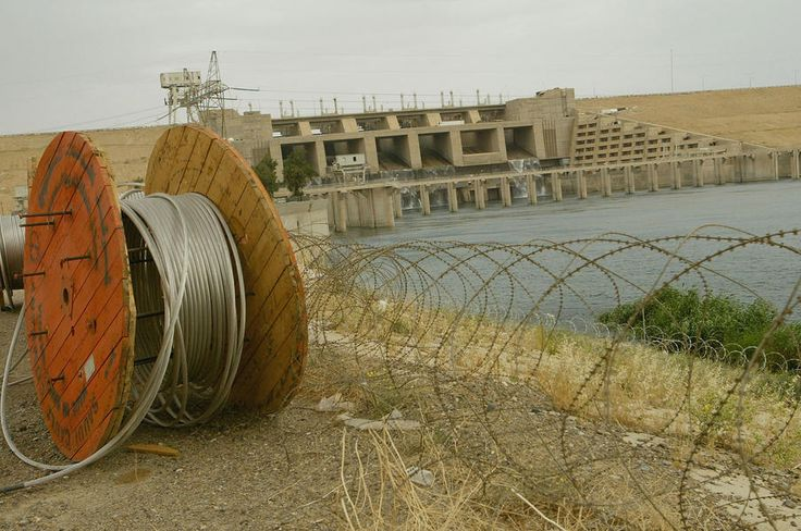 Scientists say the destruction or failure of the Mosul Dam could unleash up to 50 million gallons of water per second on Mosul, covering more than half of Iraq's second-largest city under 25 meters of water within hours and deluging Baghdad under four meters of water inside of three days. So there's that. It's also a staggeringly easy piece of infrastructure to compromise, thanks to an unstable, water-soluble