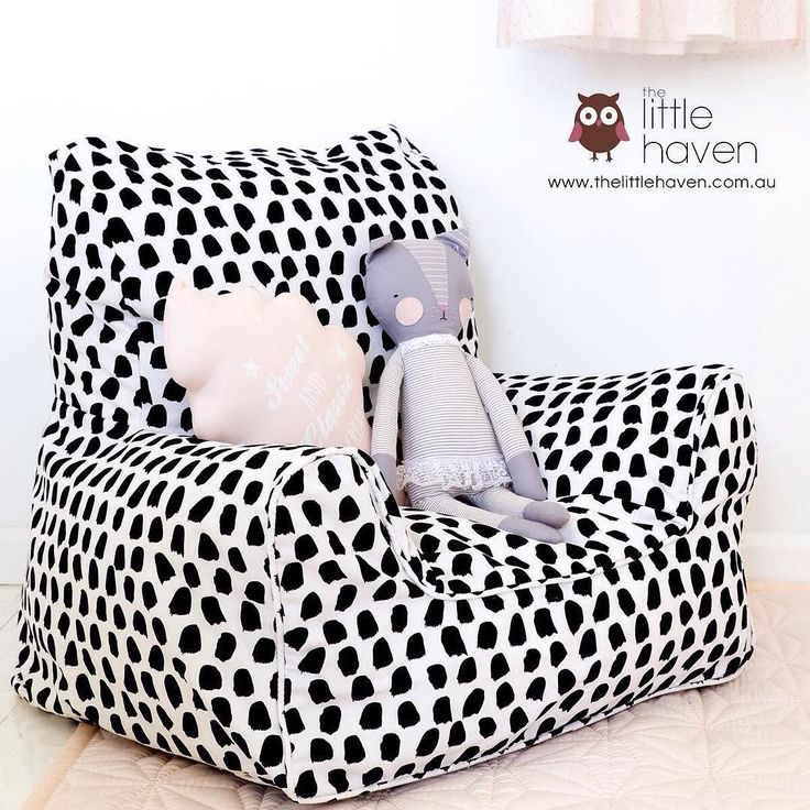 Excited to be stocking NEW gorgeous Lelbys bean chairs just in time for Christmas!! Paint Splotches Black and White design. #thelittlehaven