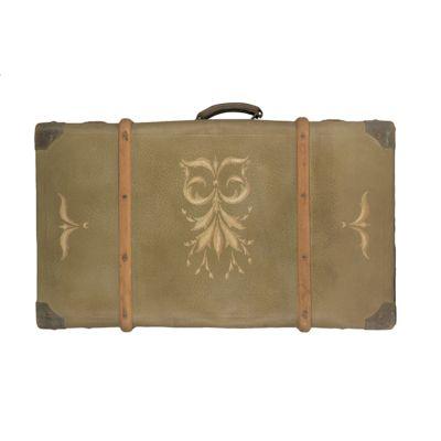 Sortie d'atelier : relooking d'une valise cintrée en carton avec la chalk paint d'Annie Sloan par La Fée Caséine. En vente sur lafeecaseine.fr .
