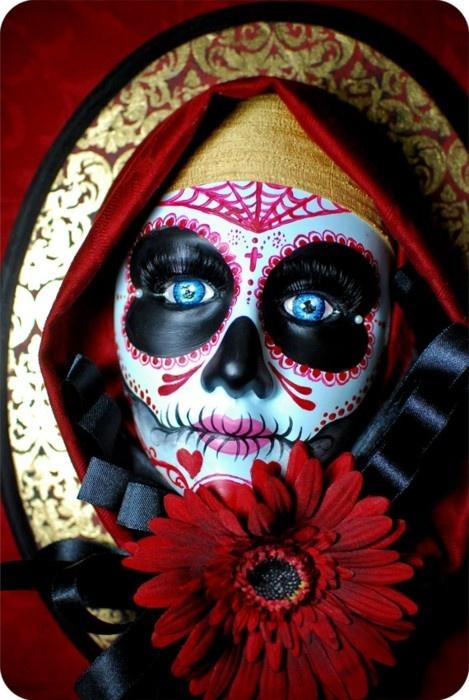 el dia de los muertos mexicanconnexionfortilecom dayofthedead talavera mexican halloween 2014halloween costume - Mexican Halloween Mask