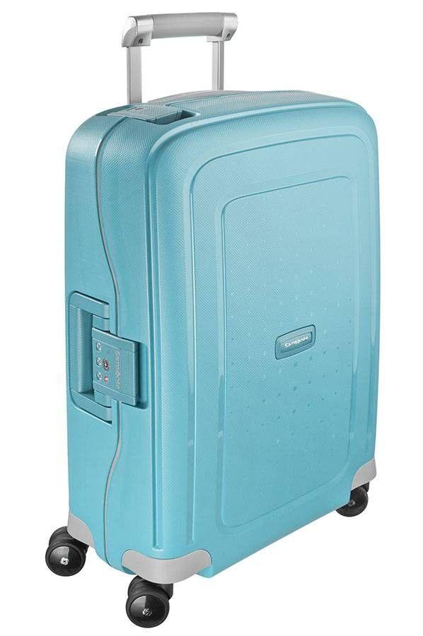Samsonite S'cure 55 cm kabinekuffert aqua blå - Hardcase kufferter - Kufferter 1280kr