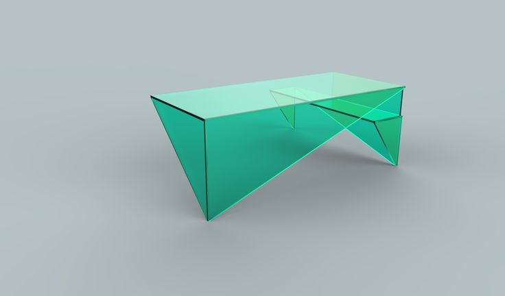 Visualization of a desk concept  intended for office and household. Project: Agnieszka Pawłowska