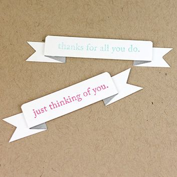 Simple Paper Banner Embellishment: this easy paper craft can be added to any of your handmade cards!