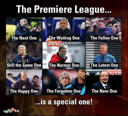 Tên mới của các HLV Premier League