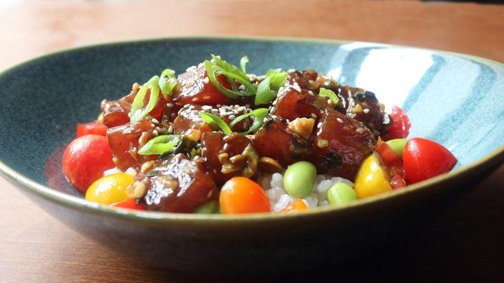 Tuna Poke Recipe - How to Make Hawaiian-Style Ahi Poke - YouTube