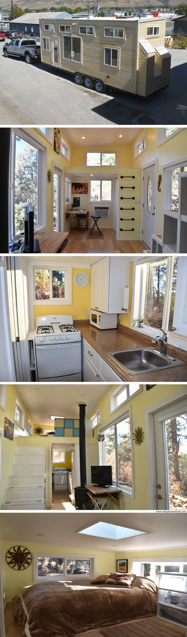 A new 310 sq ft home from Upper Valley Tiny Homes. Currently available for sale in Colorado!