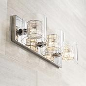 Modern Chrome Bathroom Lighting | Lamps Plus