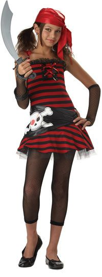 Tween Pirate Cutie Girls Costume-The Top #Halloween Costumes for Girls