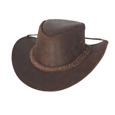 #Australian #leather #outback bush hat  unisex,  View more on the LINK: http://www.zeppy.io/product/gb/2/221198396040/