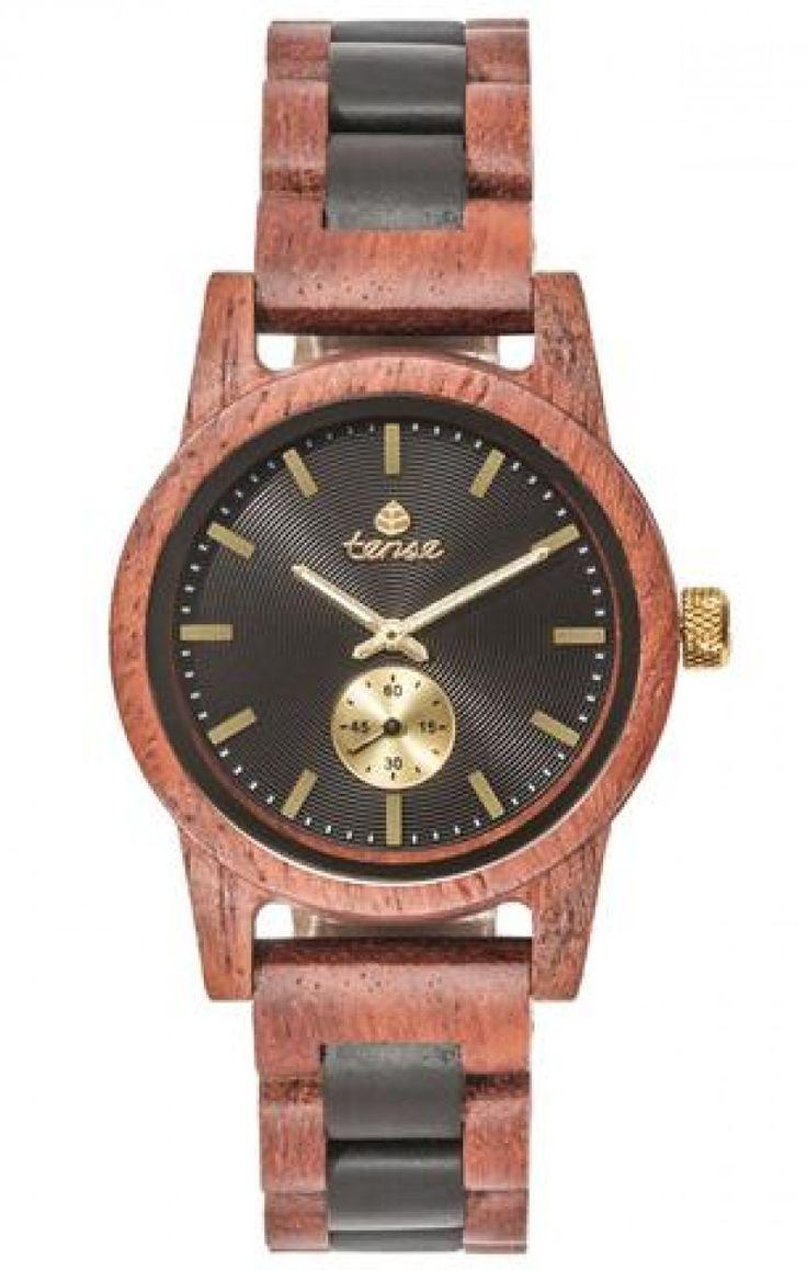 Tense Hampton Wooden Watch B4700RD-BG