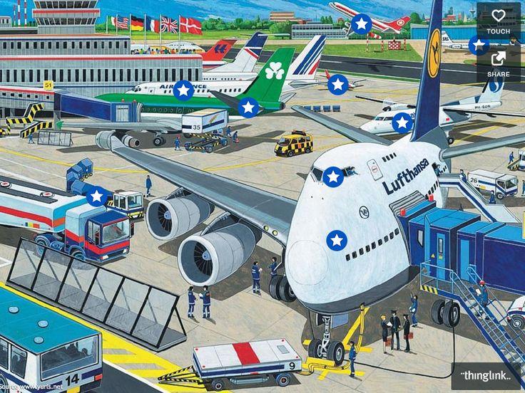Interactieve praatplaat 'Vliegveld'