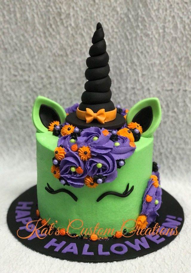 20+ Tolles Bild von Halloween-Geburtstagstorten. Halloween Geburtstagstorten Einhorn …   – Birthday Cake Ideas