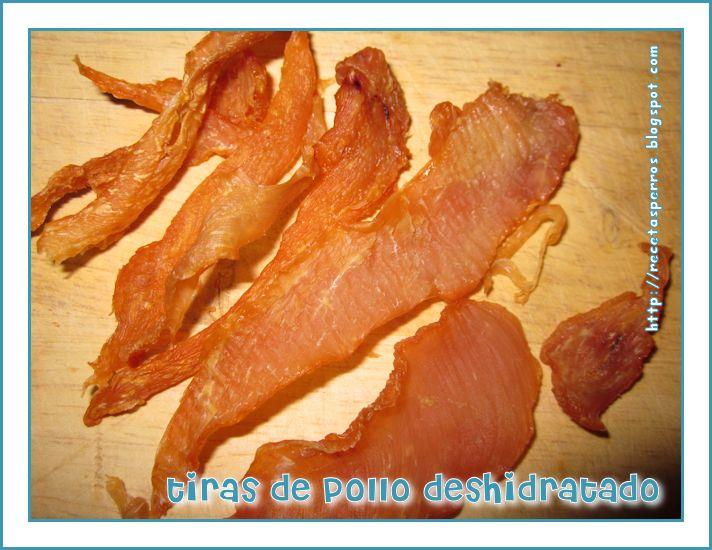 Recetas Caseras Para Perros: Tiras de pollo deshidratado