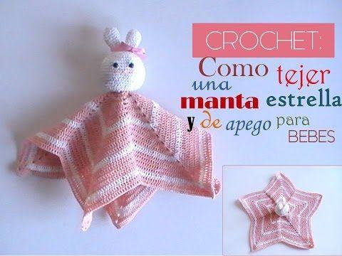 CROCHET: como tejer una manta ESTRELLA y de APEGO para BEBE (diestro) - YouTube