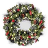 """Found it at Wayfair - Crestwood Spruce Pre-Lit 24"""" Wreath with Clear Lights"""