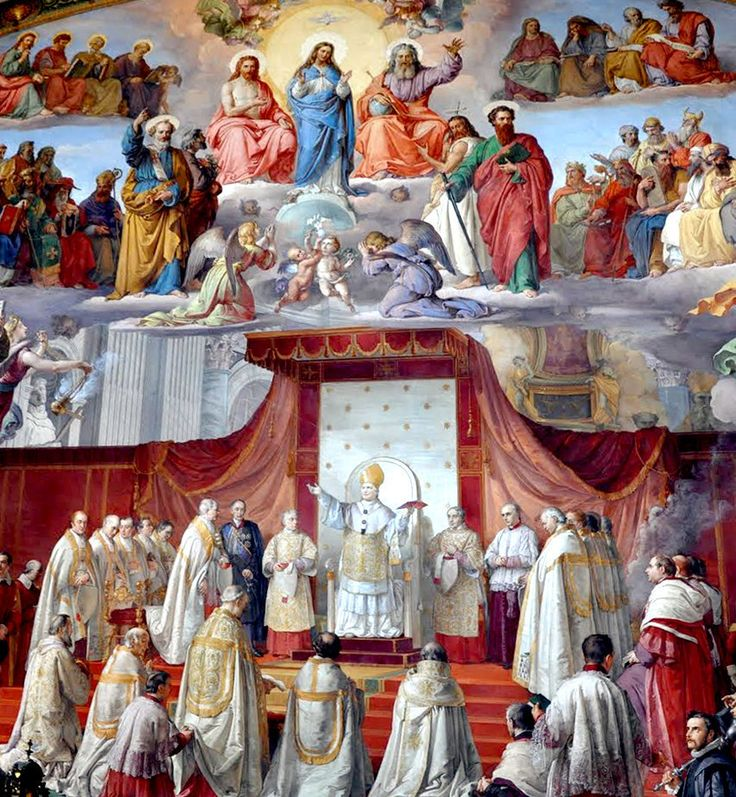 "theraccolta: "" Pope Pius IX declares the Dogma of the Immaculate Conception on December 8, 1854 "" Contrary to what many modern Protestants believe, the Catholic Church did not 'invent' the dogma of the Immaculate Conception, but rather confirmed what..."