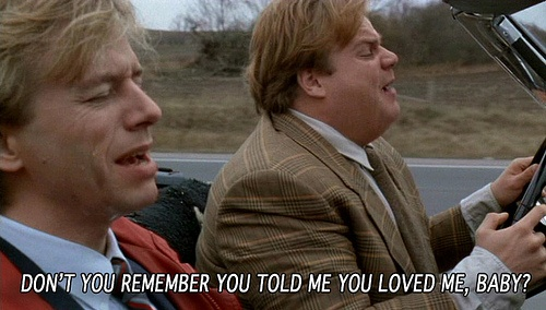Tommy Boy AND The Carpenters??? lol i love that scene