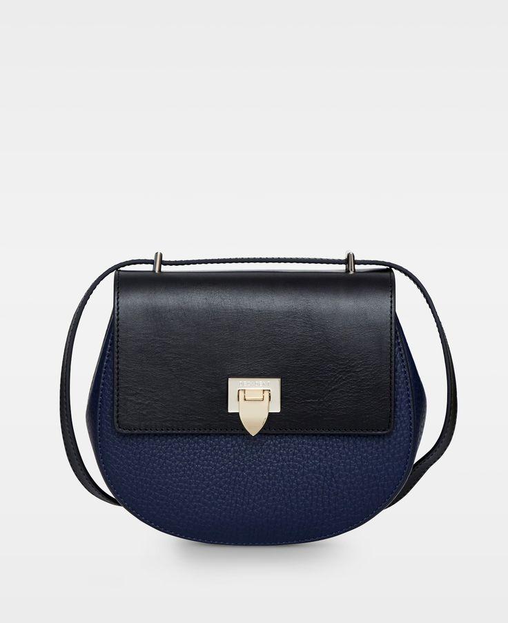DECADENT Agnes Tiny round satchel bag, navy