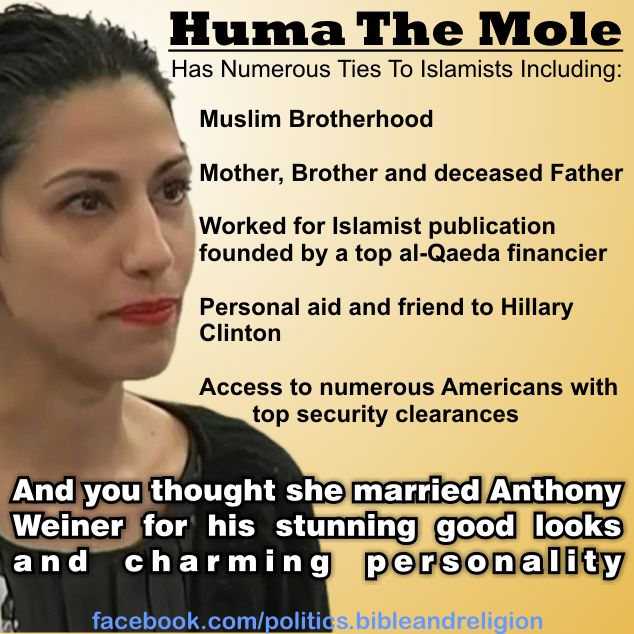 Senator Presses for Info on Huma's Special Gov't Status--and Her Emails on Clinton's Private Server