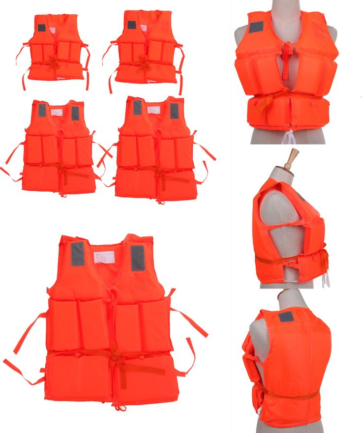 [Visit to Buy] Kids To Adult Plus Size Red Life Vest With Survival Whistle Water Sports Foam Life Jacket For Drifting Boating Swim Ski Surfing #Advertisement