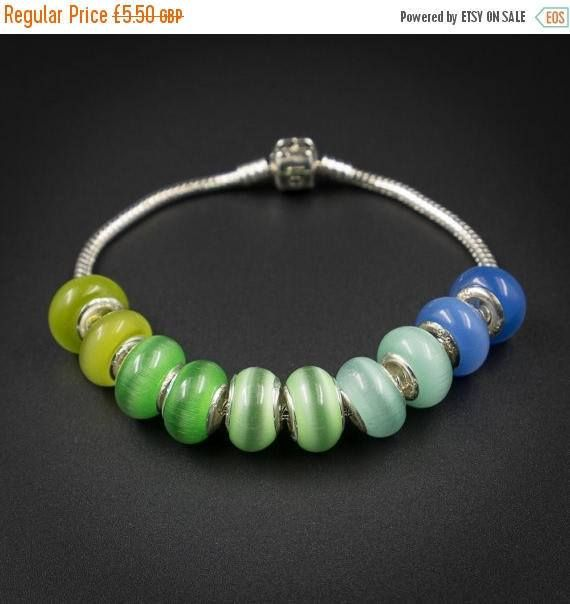 ON SALE blue green ombre european style by CretanHareCreations