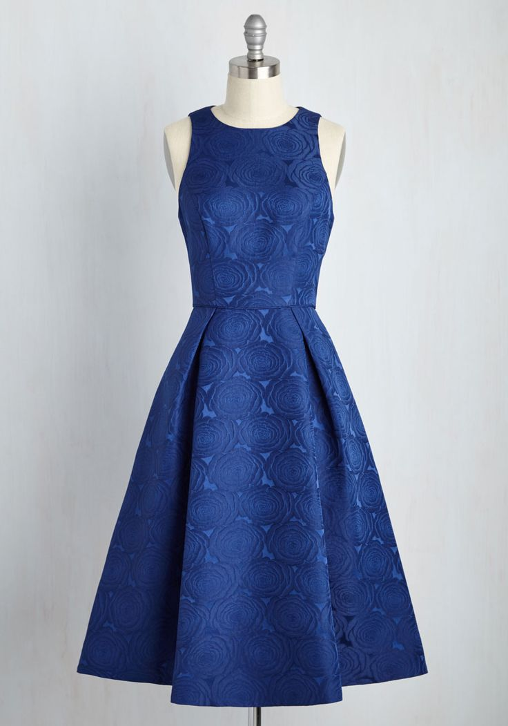 Mesmerizing Moves Dress. Enveloped in this indigo dress, your partner swings you around the dancefloor. #blue #wedding #modcloth