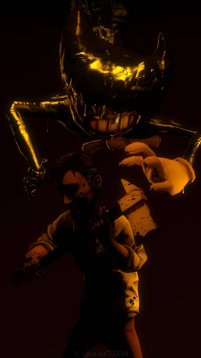 Batim Ink Demon And Henry By Cfowler7 Sfm Bendy And The Ink Machine Ink Dark Fantasy Art