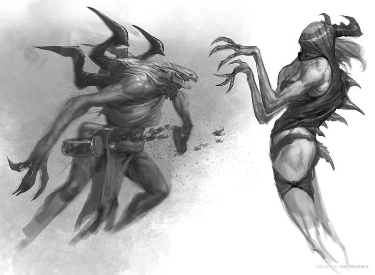 GOD OF WAR: ASCENSION  Concept Art by Izzy Medrano,   Copyright Sony Santa Monica Studio