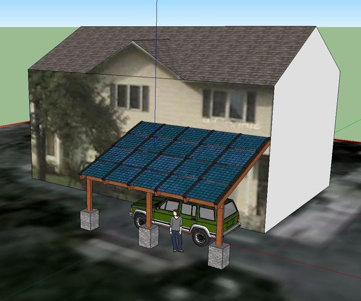 Blue Horizon Solar Sketch Up Carport Design Sketchup