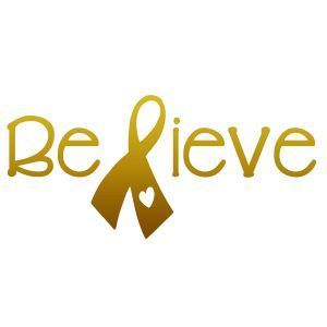 Fundraiser for Morgan Buffaloe - Childhood Cancer Awareness - BELIEVE - Stickerbus.com