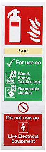 Cheap SIGNSLAB F202/S Safety Sign Fire Extinguisher Foam Self-Adhesive 280 mm x 90 mm deals week