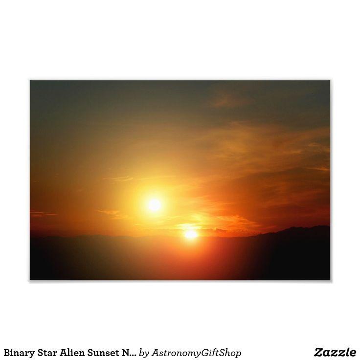 Binary Star Alien Sunset NASA