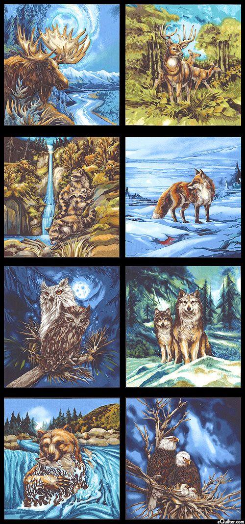 170 best Wild Animals images on Pinterest | Wild animals, Fabric ... : wildlife quilt fabric - Adamdwight.com