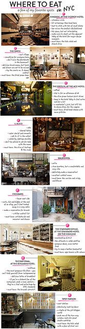 Where to eat in NYC..... <3