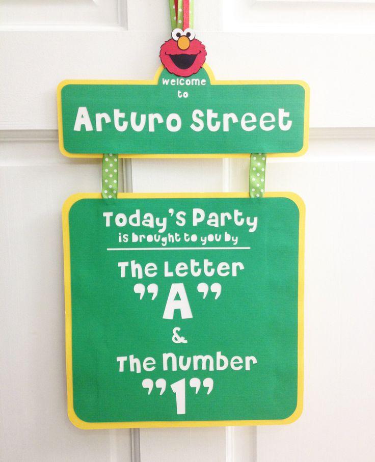 Sesame Street Party Sign, Elmo Door Sign, Sesame Street Birthday Sign, Elmo Birthday Sign, Birthday Door Sign, Party Sign, Door Banner by PeppyPartyPalace on Etsy https://www.etsy.com/listing/466618198/sesame-street-party-sign-elmo-door-sign