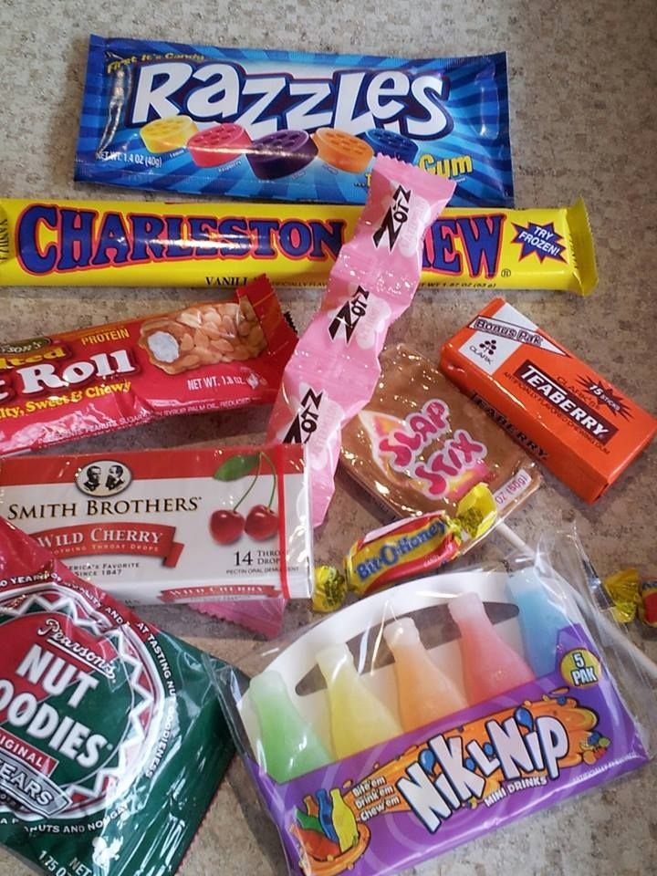 From Razzles to Charleston Chew to Bonomo Turkish Taffy to Mallow cups to Teaberry gum, we've got enough nostalgic candy to make even the oldest kid in the group feel like a kid in a candy store!