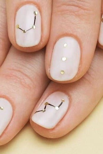 The 10 Best Nail Art Ideas We Tried This Year #purewow #beauty #nails #nail art