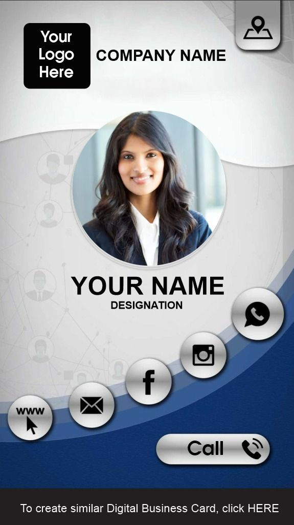 Free Templates Of Digital Business Cards Digital Business Card Marketing Business Card Personal Business Cards