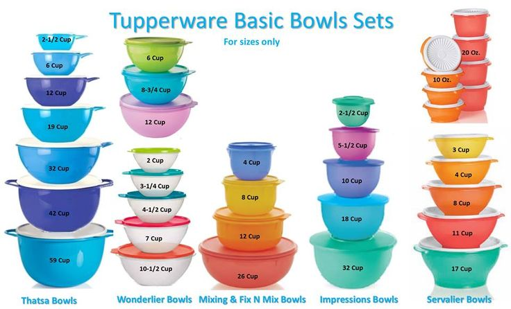 tupperware to serve buffet and as favors