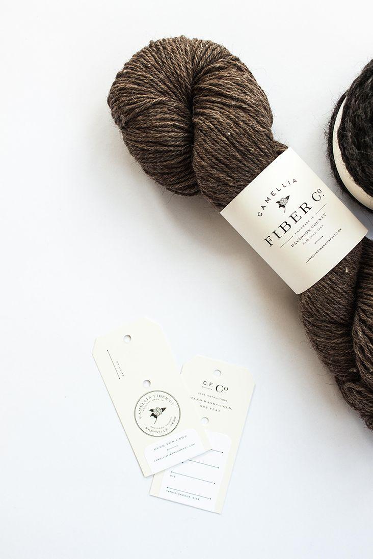 Yarn packaging for Camellia Fiber Co.