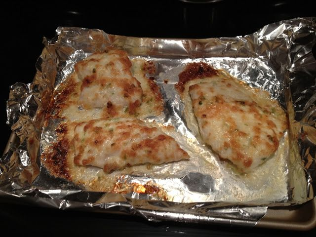 HEAVENLY BROILED GROUPER - with mayo and parmesan