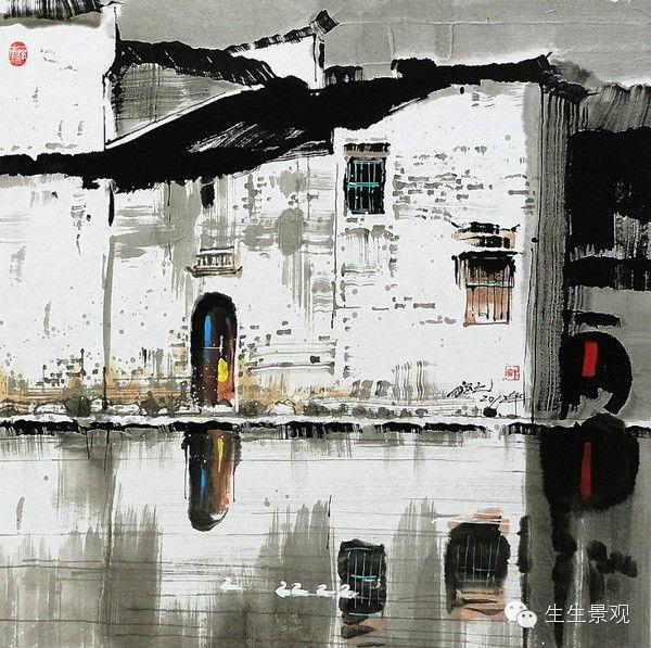 美美的水彩国画【生生景观分享】