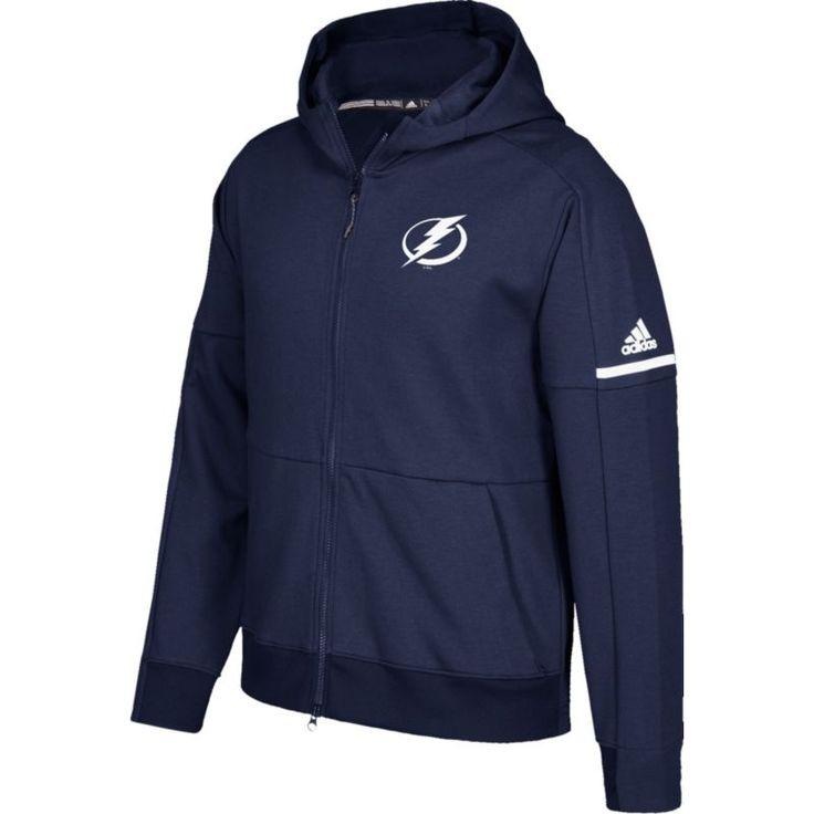 adidas Men's Tampa Bay Lightning Authentic Pro Squad ID Navy Full-Zip Hoodie, Size: XXL, Team