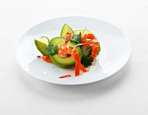 Rezept für Ceviche von Bio-Garnelen und Avocado