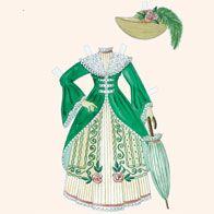 Denne påklædningsdukke er tegnet af Pia Aas Degn. Dukken hedder Louisa og har mange flotte kjoler.
