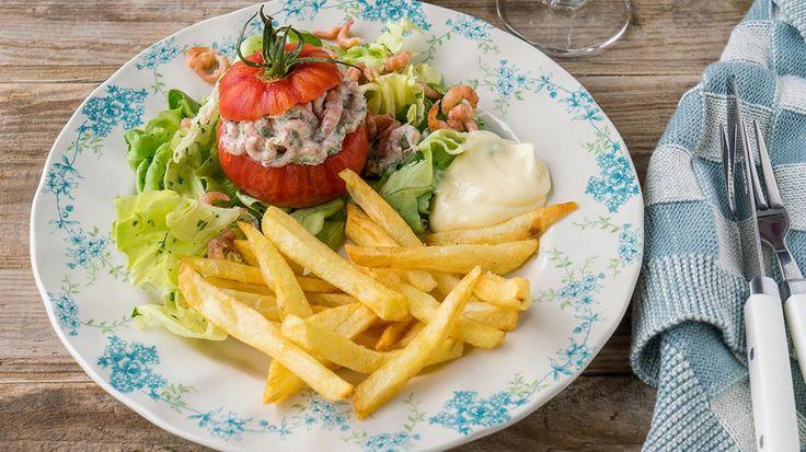 Tomaat-garnaal met frietjes | VTM Koken