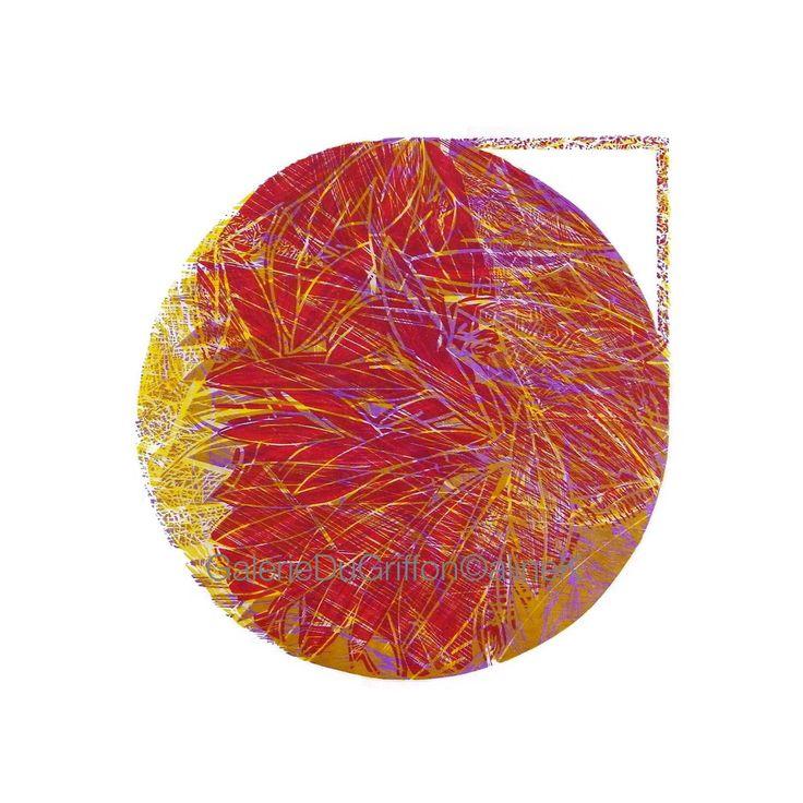 ➕ MARIA BONOMI ( née en 1935)   La Chanson, 2015   Xylogravure/Xylographie sur Contreplaqué et bois de bout 120 x 120 cm  Signée et numérotée 6/10