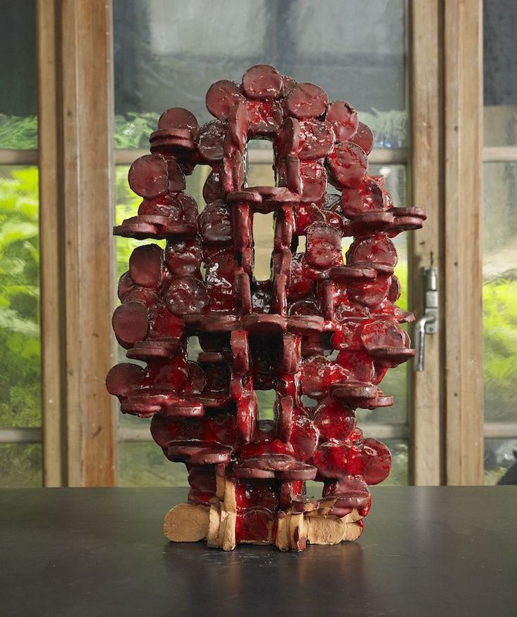 """Nr.43. Hertha Hillfon, Skulptur, """"Abstrakt"""". Utropspris: 8 000-10 000 kr. Såld för: 92 000 kr."""