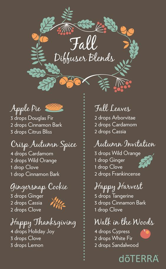 doTERRA Fall Diffuser Blends with Wonderful Recipes
