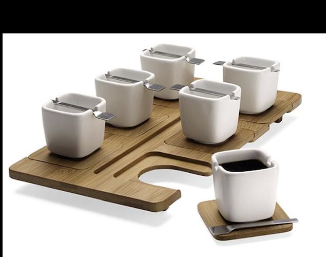 Bamboo coffe set